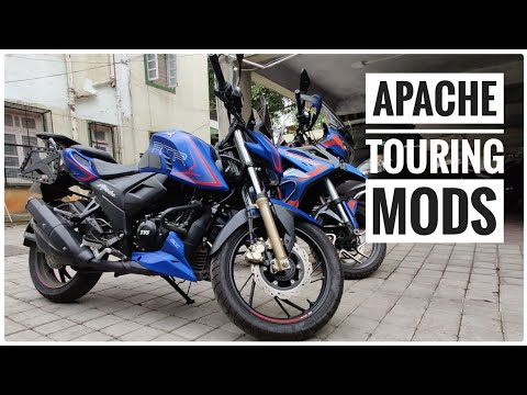 2021 BS6 TVS APACHE RTR 200 | Touring Mods | Visor, Top Rack, Saddle Stays, Tank Grips | DNA VLOGS
