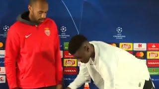 Тьерри Анри просто задвинул стул, но это ВЗОРВАЛО интернет!!! Пресс-конференция Монако.