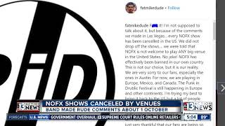 NOFX band member Fat Mike claims the group has been banned from pla...
