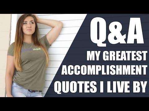 Q&A PART 2 | Biggest Accomplishments, Supplement Brands, Quotes I Live By