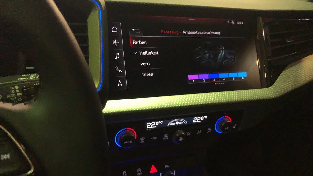 Audi A1 Sportback Ambiente Beleuchtung 2019