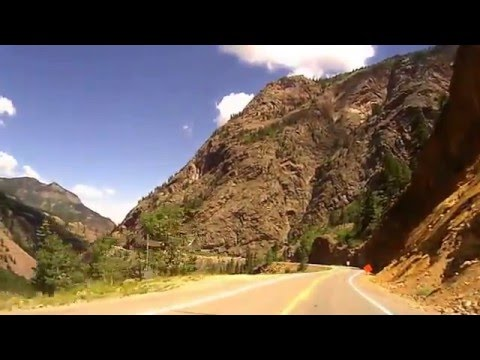 Million Dollar Highway on Motorcycle Silverton to Ouray Colo