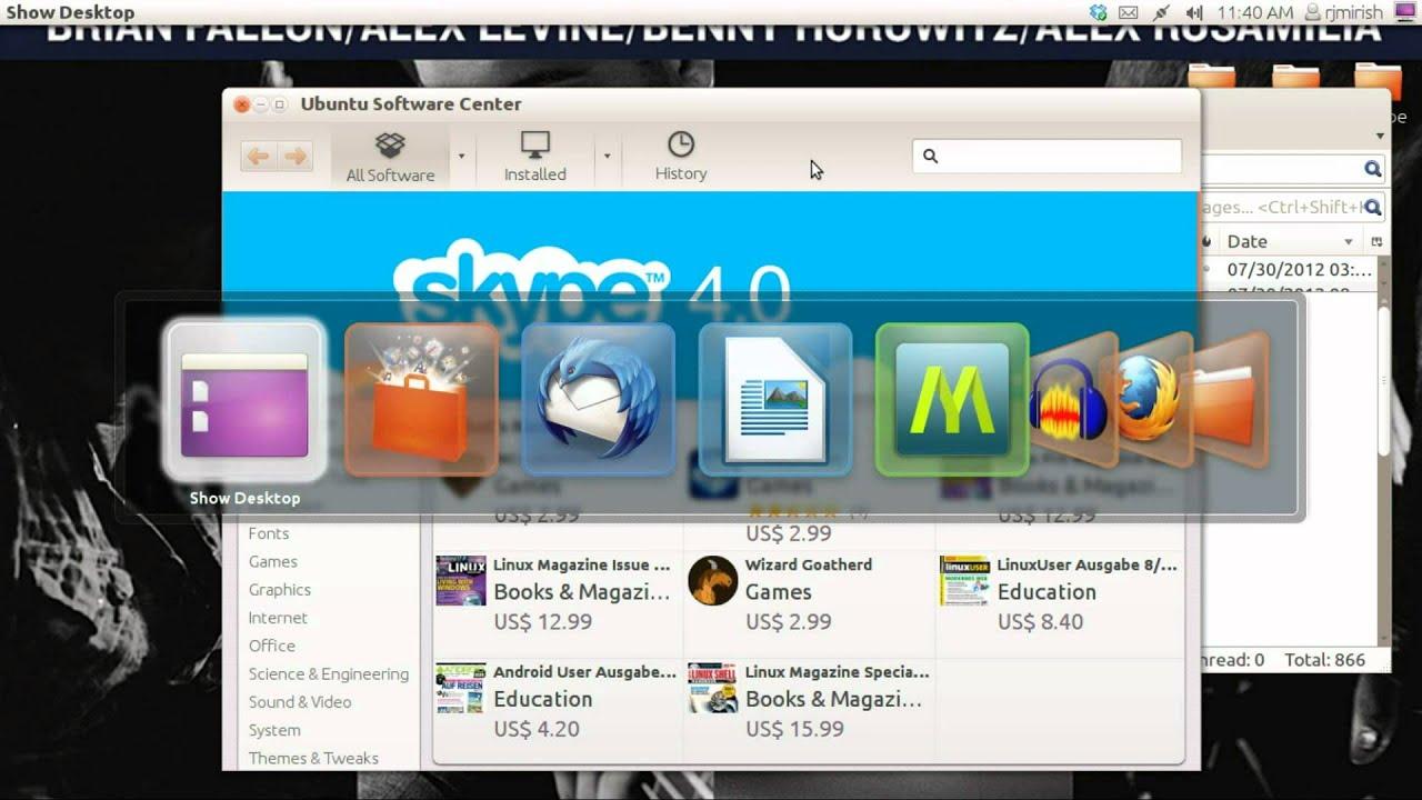 video da youtube con ubuntu 12.04