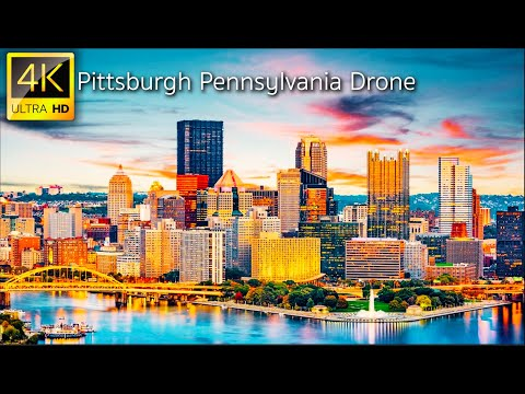 Pittsburgh, Pennsylvania, USA - 4K Drone Video