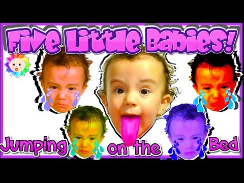 Thumbnail: FIVE LITTLE BABIES Song -Real Bad Baby crying and learn colors-Simple SONGS Children Nursery Rhymes