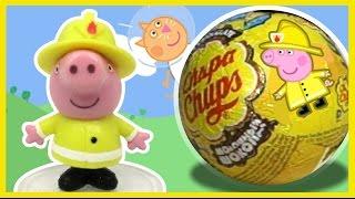 Свинка Пеппа. Профессии. Чупа-Чупс шоколадные шарики.Unboxing Chocolate Eggs