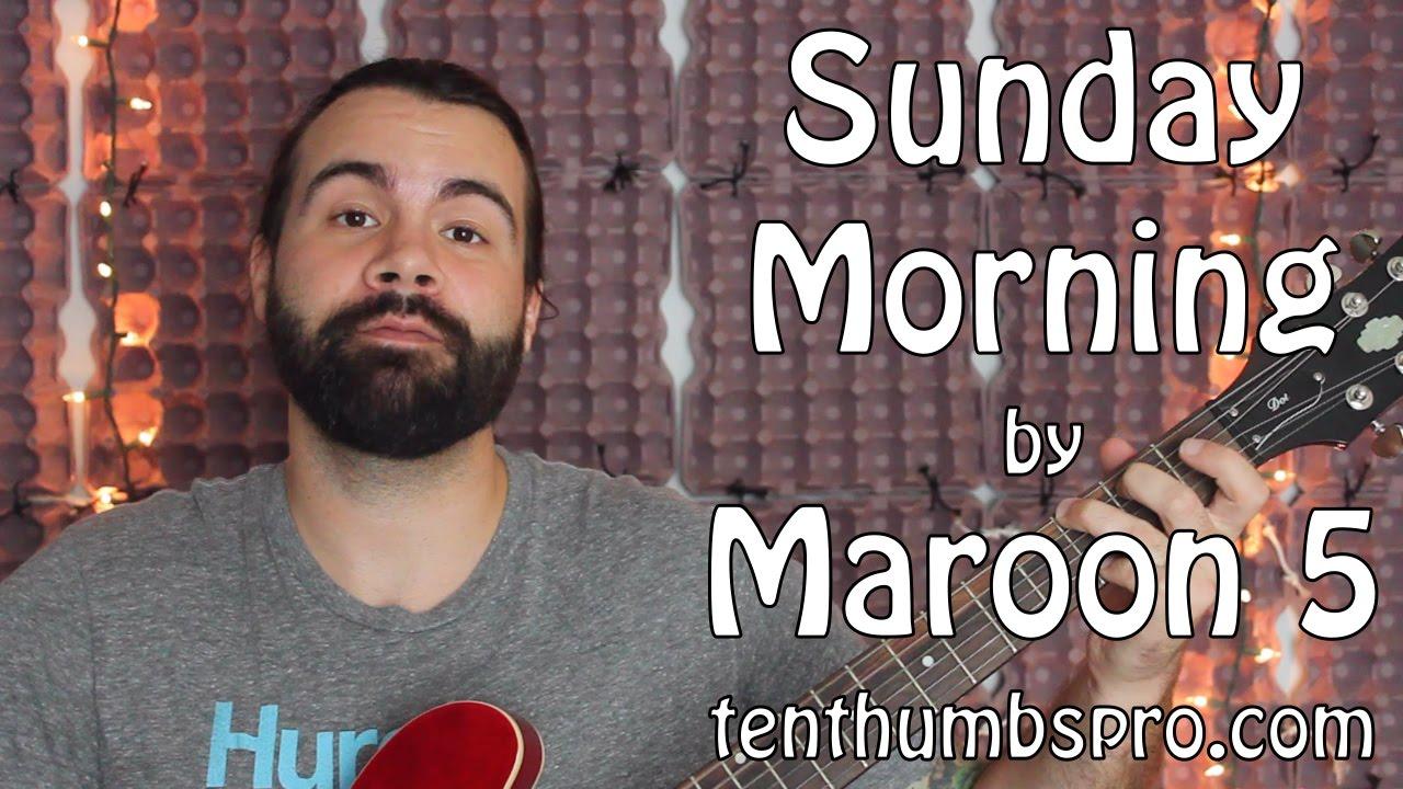 Sunday Morning Maroon 5 Easy Guitar Tutorial Youtube