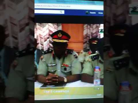 Zimbabwe security sector press conference condem Mugabe