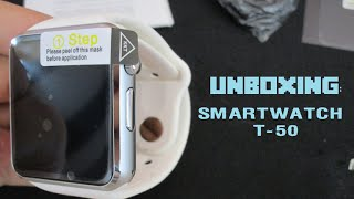 UNBOXING: SmartWatch T-50 - AliExpress