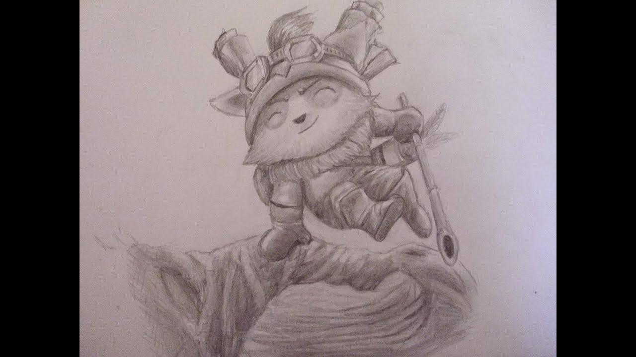 Dibujando a Teemo paso a paso (League of Legends)arte ...
