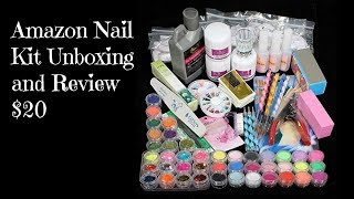 Nail Kit Unboxing From Amazon