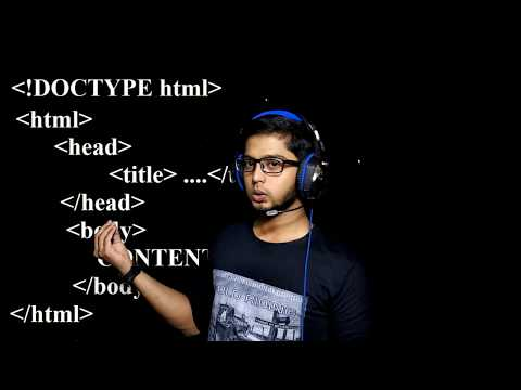 Introduction To HTML - Web Programming - Meaning Of Tags - Part 1