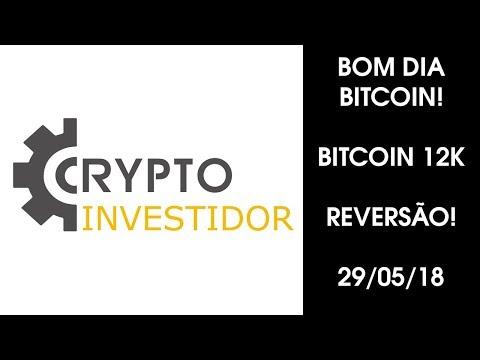 Bom Dia Bitcoin 29/05/18, BITCOIN 12K! Reversão?