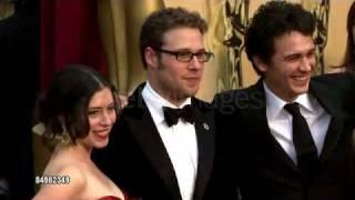 Oscars 2009 RedCarpet: James Franco & Ahna O'Reilly, Seth Rogen