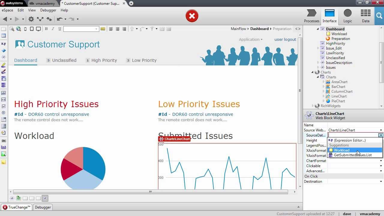 Show Data Using Charts - OutSystems Platform Training