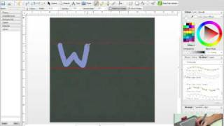 Create your own alphabet with Digital Scrapbook Artist 2 and a graphics tablet