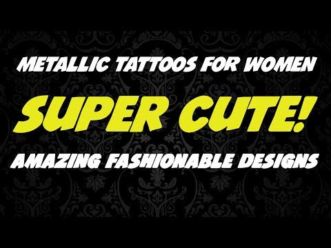 Temporary Tattoos for Women. Flash Tattoos, Gold, Silver & Black.