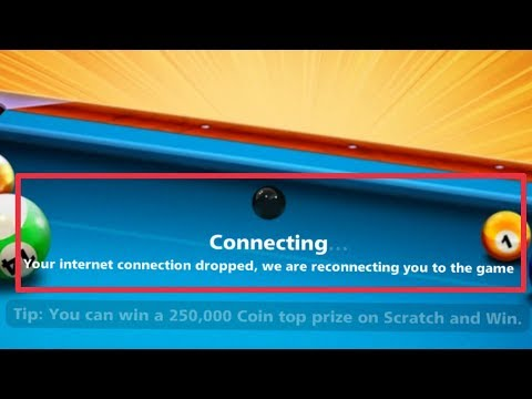 8 Ball Pool Fix Connection Error   Your Internet Dropped Reconnection You To The Game In Android