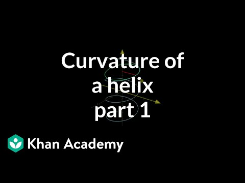 Curvature of a helix, part 1