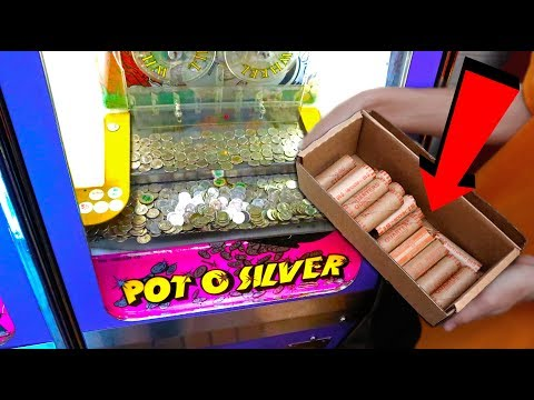 Putting 1,000 Quarters in a Coin Pusher!!