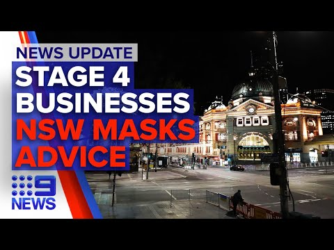 Update: Victoria stage four business restrictions revealed, NSW masks advice | 9 News Australia