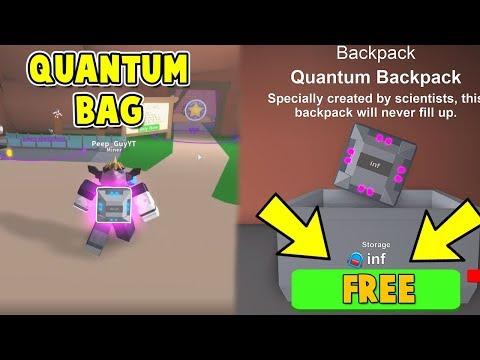 HOW TO GET THE INFINITE QUANTUM BAG FOR FREE! (Mining Simulator Roblox)