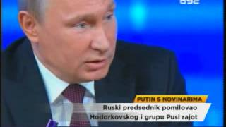 Putin o raketama, Ukrajini, Pusi rajotu...