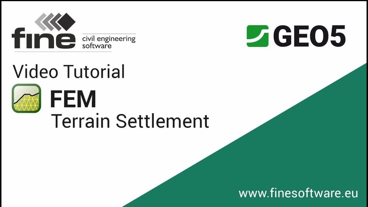 GEO5 Tutorials: FEM Terrain Settlement