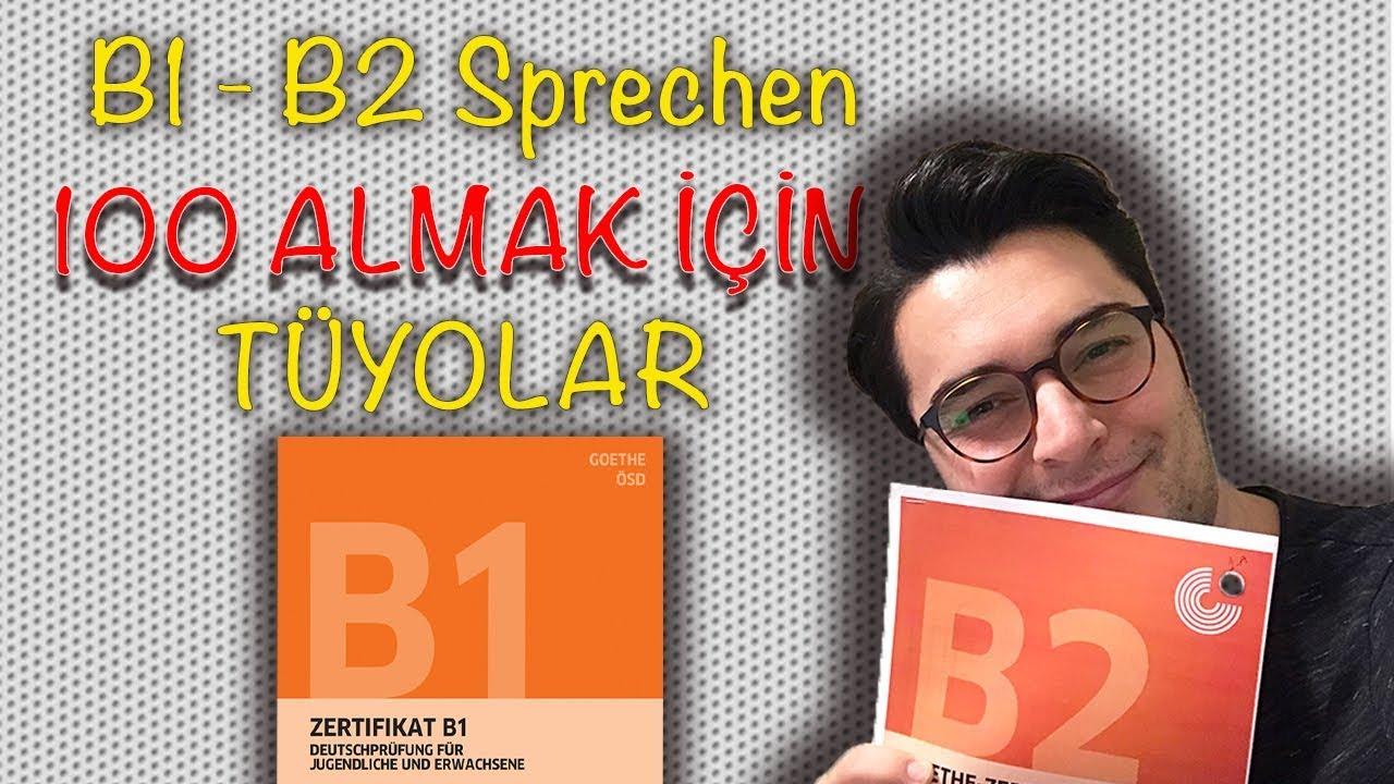 Almanca Konuşma Sinavi Pratik Almanca B1 Ve B2 Youtube