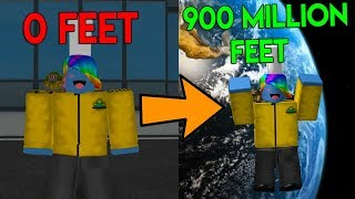 ROBLOX CLOUD JUMPING SIMULATOR *JUMPING TO THE MOON!*