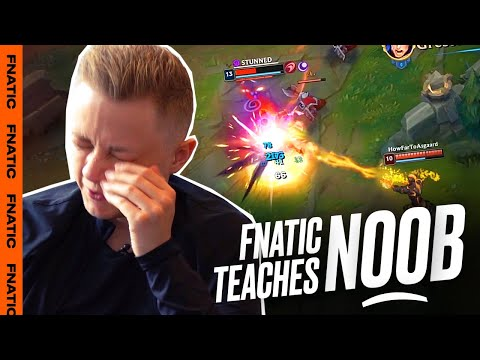 Rekkles coaches noob how to get out of Silver | Fnatic Teaches Noob Ep5