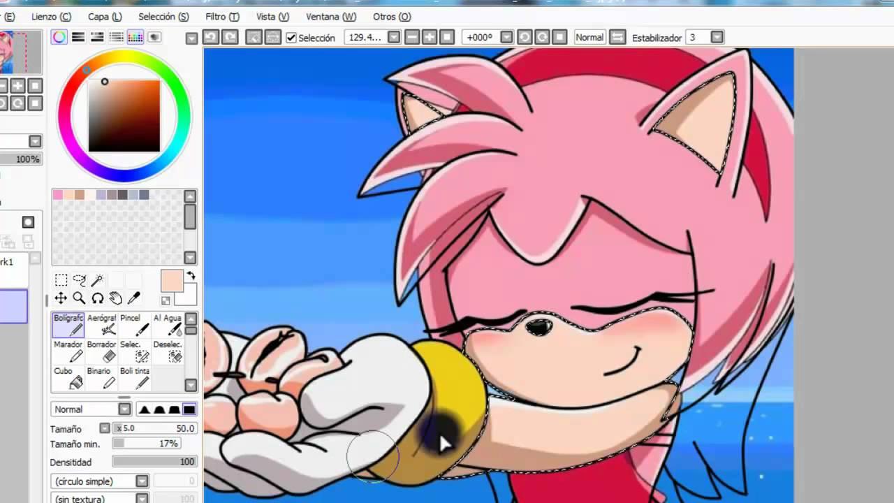 Como recolorear un personaje de sonic con paint tool sai  YouTube