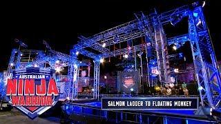 Salmon Ladder to Floating Monkey  Australian Ninja Warrior 2018