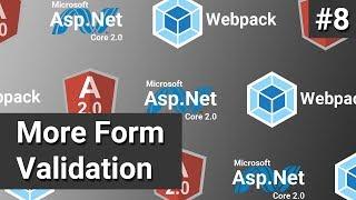 More Form Validation 8 Asp Net Core Angular and Webpack