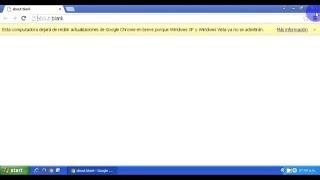 Solución para la advertencia de fin de soporte para Google Chrome en Windows XP