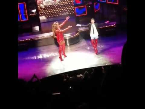 Brendon Urie's First Kinky Boots bow