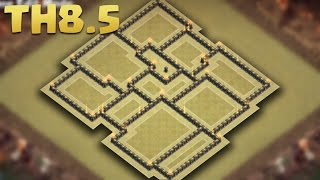 town hall 8 5 th8 5 best war base aq ad traps walls storages anti 3 star th9 no xbows 2016