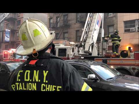 FDNY BOX 0586 - FDNY OPERATING AT 3RD ALARM FIRE ON WEST 19T