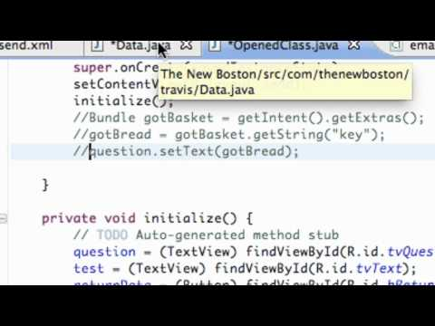 Android Application Development Tutorial - 50 - SetResult For The Start Activity For Result
