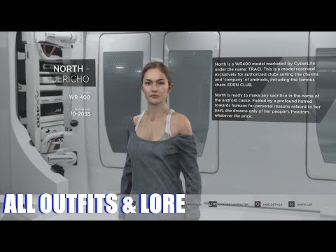 Detroit Become Human - All Outfits & Character Lore (Unlocked Extras PS4 Pro)