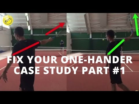 How To Fix Your One-Handed Backhand: Case-Study Part 1