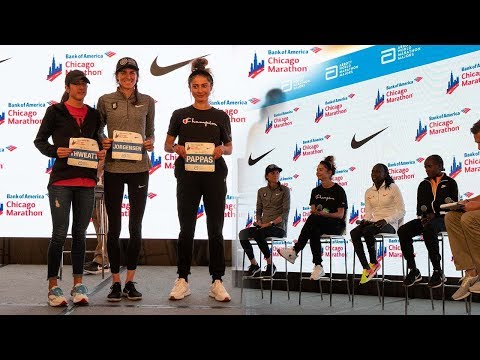 Chicago Marathon press conference.