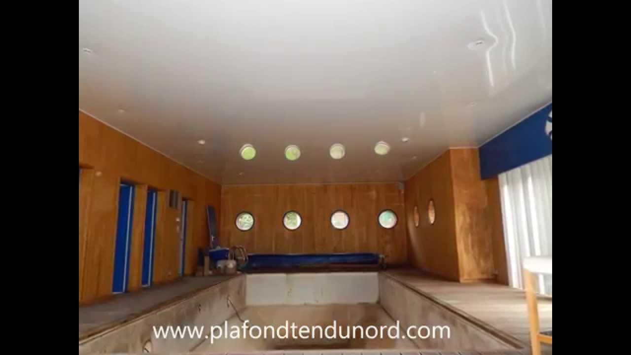 Plafond tendu laqué blanc piscine  YouTube -> Armoire Blanc Laquée