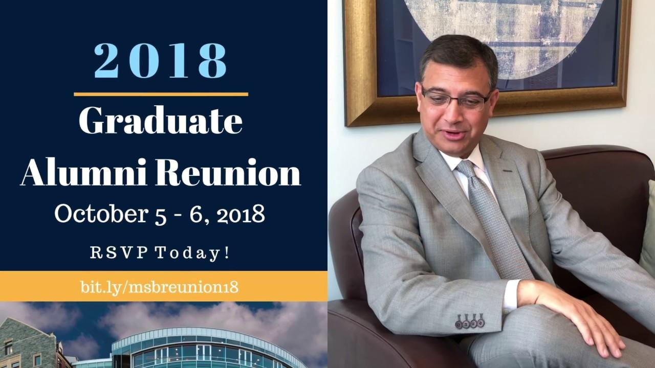 Download 2018 Graduate Alumni Reunion Invitation