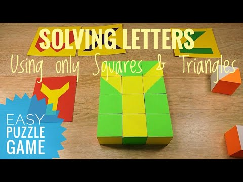 ABC Alphabet from the pattern blocks Educational puzzle game for kids