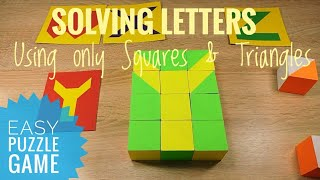 ABC English Alphabet from the pattern blocks Educational puzzle game for kids Educational toy
