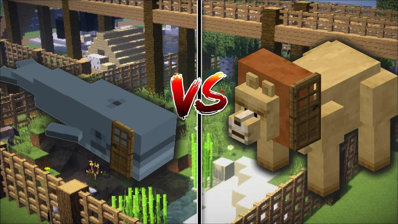 Minecraft Whale House Vs Lion House Build Your Own House And