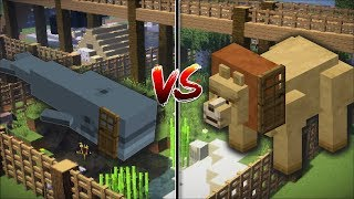 Minecraft WHALE HOUSE VS LION HOUSE / BUILD YOUR OWN HOUSE AND SURVIVE IN IT!! Minecraft Mods