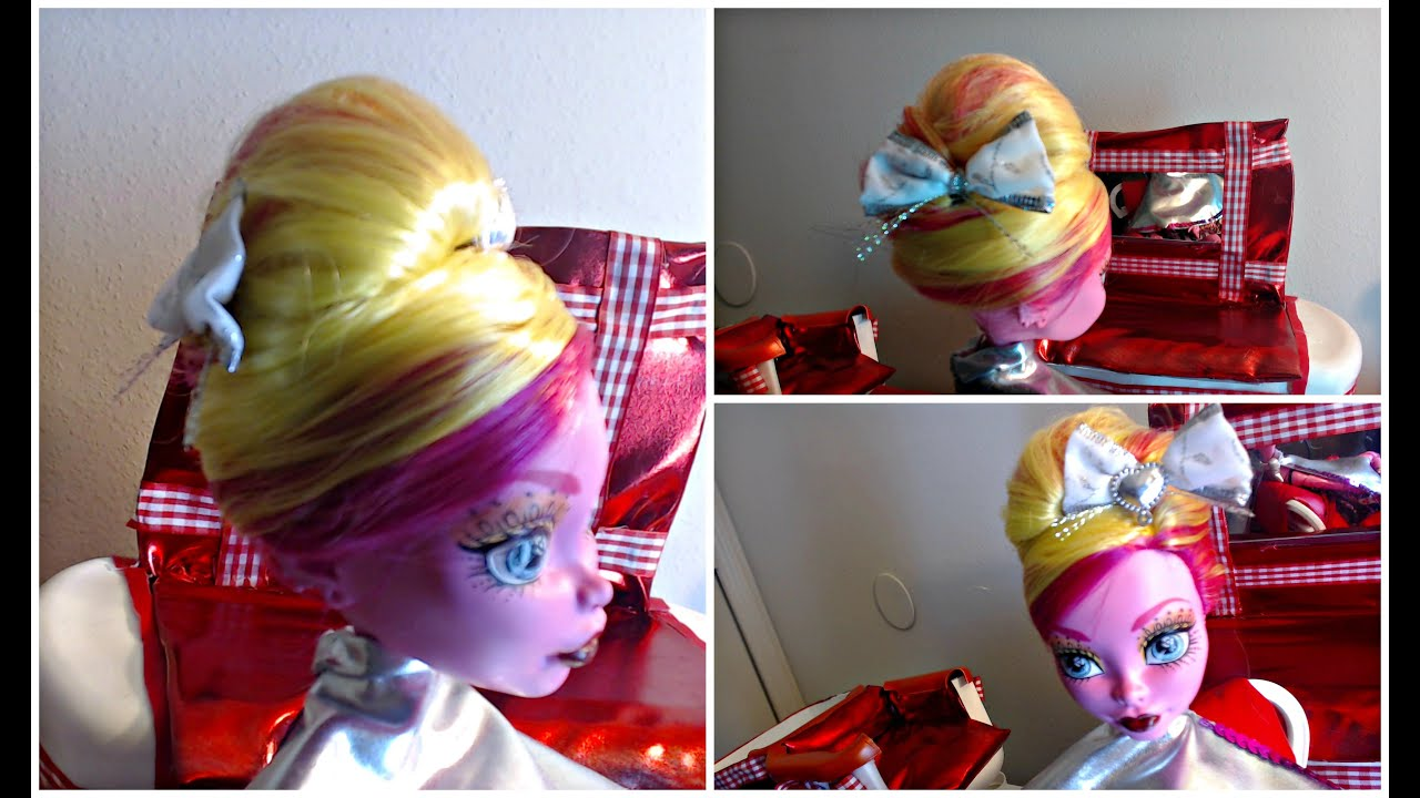 Cute dolls and girls hairstyles how to make an updo 17 inches cute dolls and girls hairstyles how to make an updo 17 inches monster high gooliope 2 youtube winobraniefo Image collections