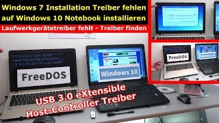 Windows 7 Treiberproblem beim Installieren xHCI auf neuem Windows 10 Notebook XHC  - [4K]